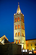 The Campinale bell tower of the St Anastasia Cathedral. Zadar, Croatia .<br /> <br /> Visit our MEDIEVAL PHOTO COLLECTIONS for more   photos  to download or buy as prints https://funkystock.photoshelter.com/gallery-collection/Medieval-Middle-Ages-Historic-Places-Arcaeological-Sites-Pictures-Images-of/C0000B5ZA54_WD0s