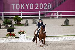 TOKYO - Olympische Spiele / Olympic Games 2021<br /> <br /> FRASER-BEAULIEU Brittany (CAN), All In<br /> Grand Prix de Dressage<br /> <br /> Tokio, Equestrian Park<br /> 25. July 2021<br /> © www.sportfotos-lafrentz.de/Stefan Lafrentz