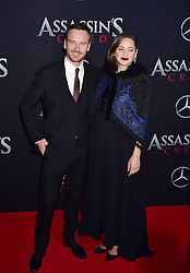 Pregnant Marion Cottilard and Michael Fassbender attending the Assassin's Creed premiere at AMC Empire 25 theater on December 13, 2016 in New York City, NY, USA. Photo by MM/ABACAPRESS.COM