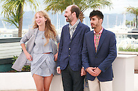 Actress Ingrid Garcia-jonsson, Director Jaime Rosales, and actor Carlos Rodrigez at the photo call for the film Beautiful Youth (Hermosa Juventud) at the 67th Cannes Film Festival, Monday 19th May 2014, Cannes, France.