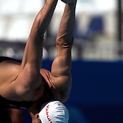Michael Phelps, USA, before the start of the Men's 200m freestyle heats at the World Swimming Championships in Rome on Monday, July 28, 2009. Photo Tim Clayton.
