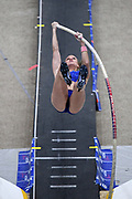 Katie Nageotte ties for third in the elite women's pole vault at 14-5 1/4 (4.40m) during the National Pole Vault Summit, Friday, Jan. 17, 2020, in Reno, Nev.
