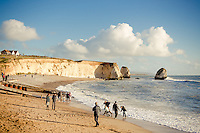 Family fun at the beach on the Isle of Wight