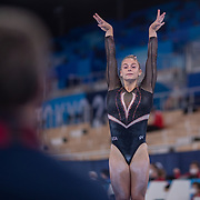 TOKYO, JAPAN - JULY 22: Grace McCallum of the United States during the Artistic Gymnastics Podium Training at the Ariake Gymnastics Centre in preparation for the Tokyo 2020 Olympic Games on July 22, 2021 in Tokyo, Japan. (Photo by Tim Clayton/Corbis via Getty Images)