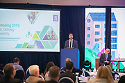 NO FEE PICTURES                                                                                                                                              10/10/19 Minister Eoghan Murphy at the Irish Council for Social Housing (ICSH) Biennial Finance and Development Conference 2019 at the Clayton Whites Hotel, Wexford 10-11 October. The two-day conference brings together 300 delegates including active housing associations, currently facing the challenge of growing their housing stock and making it more environmentally sustainable. At the event, stakeholders from the public, not-for-profit and private sectors will discuss how collaboration and innovation can develop the sector's capacity to build more sustainable and climate resilient communities.Picture: Arthur Carron