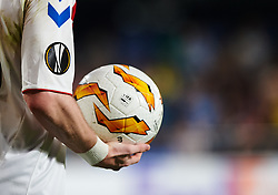September 20, 2018 - Vila-Real, Castellon, Spain - A detail of the ball during the UEFA Europa League Group G match between Villarreal CF and Rangers FC at La Ceramica Stadium on September 20, 2018 in Vila-real, Spain. (Credit Image: © Maria Jose Segovia/NurPhoto/ZUMA Press)