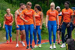Dafne Schippers, Marije van Hunenstijn in action during the Press presentation of the olympic team Athletics on July 8, 2021 in Papendal Arnhem