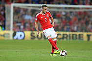 Chris Gunter of Wales in action.Wales v Austria , FIFA World Cup qualifier , European group D match at the Cardiff city Stadium in Cardiff , South Wales on Saturday 2nd September 2017. pic by Andrew Orchard, Andrew Orchard sports photography