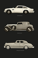 Great Britain is known for its traditions and class. So too in the car industry, because Aston Martin, Bentley and Rolls Royce are world-famous for their class. Here is the Aston Martin DB6 from the James Bond films, the Bentley 8 cylinder and the legendary Rolls Royce Silver Shadow. –<br /> -<br /> BUY THIS PRINT AT<br /> <br /> FINE ART AMERICA / PIXELS<br /> ENGLISH<br /> https://janke.pixels.com/featured/british-classic-cars-jan-keteleer.html<br /> <br /> <br /> WADM / OH MY PRINTS<br /> DUTCH / FRENCH / GERMAN<br /> https://www.werkaandemuur.nl/nl/shopwerk/Klassieke-Britse-auto-s/797713/132?mediumId=1&size=50x75<br /> –<br /> -