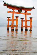 Torii at Itsukushima Shrine, Miyajima, Japan