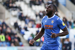 Frank Nouble of Colchester United celebrates the second goal - Mandatory by-line: Arron Gent/JMP - 08/02/2020 - FOOTBALL - JobServe Community Stadium - Colchester, England - Colchester United v Plymouth Argyle - Sky Bet League Two