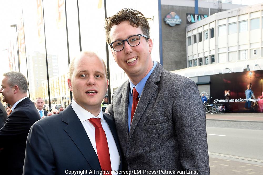 Koningsdagconcert in Theaters Tilburg / King's concert in Theaters Tilburg<br /> <br /> op de foto / On the photo: <br /> <br />  Arijan van Bavel en partner