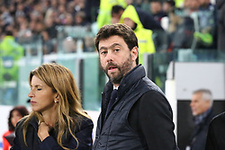 November 3, 2018 - Turin, Piedmont, Italy - Andrea Agnelli, president of Juventus FC, before the Serie A football match between Juventus FC and Cagliari Calcio at Allianz Stadium on November 03, 2018 in Turin, Italy. Juventus won 3-1 over Cagliari. (Credit Image: © Massimiliano Ferraro/NurPhoto via ZUMA Press)