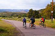 Mountain Bikers Heading into Black Star Canyon