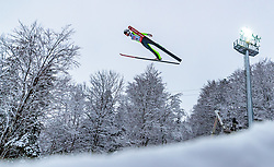20.01.2018, Heini Klopfer Skiflugschanze, Oberstdorf, GER, FIS Skiflug Weltmeisterschaft, Einzelbewerb, im Bild Clemens Aigner (AUT) // Clemens Aigner of Austria during individual competition of the FIS Ski Flying World Championships at the Heini-Klopfer Skiflying Hill in Oberstdorf, Germany on 2018/01/20. EXPA Pictures © 2018, PhotoCredit: EXPA/ JFK