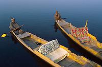 Inde, Cachemire, Srinagar, Shikara sur le lac Dal // Shikara on the Dal Lake, Srinagar, Kashmir, Jamu and Kashmir state, India