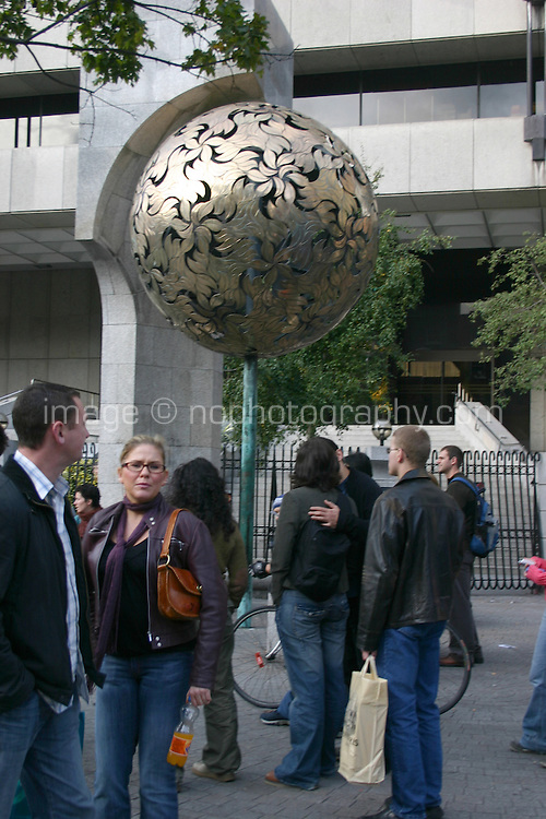 The money tree at the Central Bank Dublin Ireland<br />