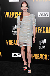 """Emily Tyra arrives at AMC's """"Preacher"""" Season 2 Premiere Screening held at the Theater at the Ace Hotel in Los Angeles, CA on Tuesday, June 20, 2017.  (Photo By Sthanlee B. Mirador) *** Please Use Credit from Credit Field ***"""
