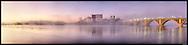 Key Bridge, Washington, DC looking toward Rosslyn, VA Image Captured 2011.<br /> Print Size (in inches): 15x3.5; 24x5.5; 36x8.5; 48x11.5; 60x14.4; 72x17