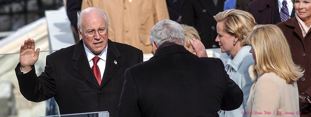 WASHINGTON, D.C. - Vice President Dick Cheney is sworn in. Inauguration ceremonies for the second term of President George W. Bush at the U.S. Capitol, along the National Mall and along Pennsylvania Avenue on January 19, 2005 and January 20, 2005. Photography ©DONNA FISHER/The Morning Call