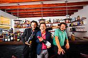 Via Verdi restaurant partners, from left:  mixologist Cristiano Vezzoli and his cousins Chef Fabrizio Carro and Chef Nicola Carro