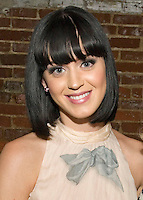 Katy Perry poses for a photo backstage at Cannery Ballroom on April 14, 2009 in Nashville, Tennessee.