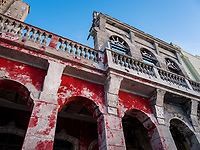 HAVANA, CUBA - CIRCA MAY 2017:  Detail of old building in the Havana.