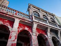 HAVANA, CUBA - CIRCA MAY 2017:  Detail of old building in the Havana.