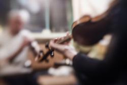 Irish musicians playing folk tunes, Westport, County Mayo, Ireland