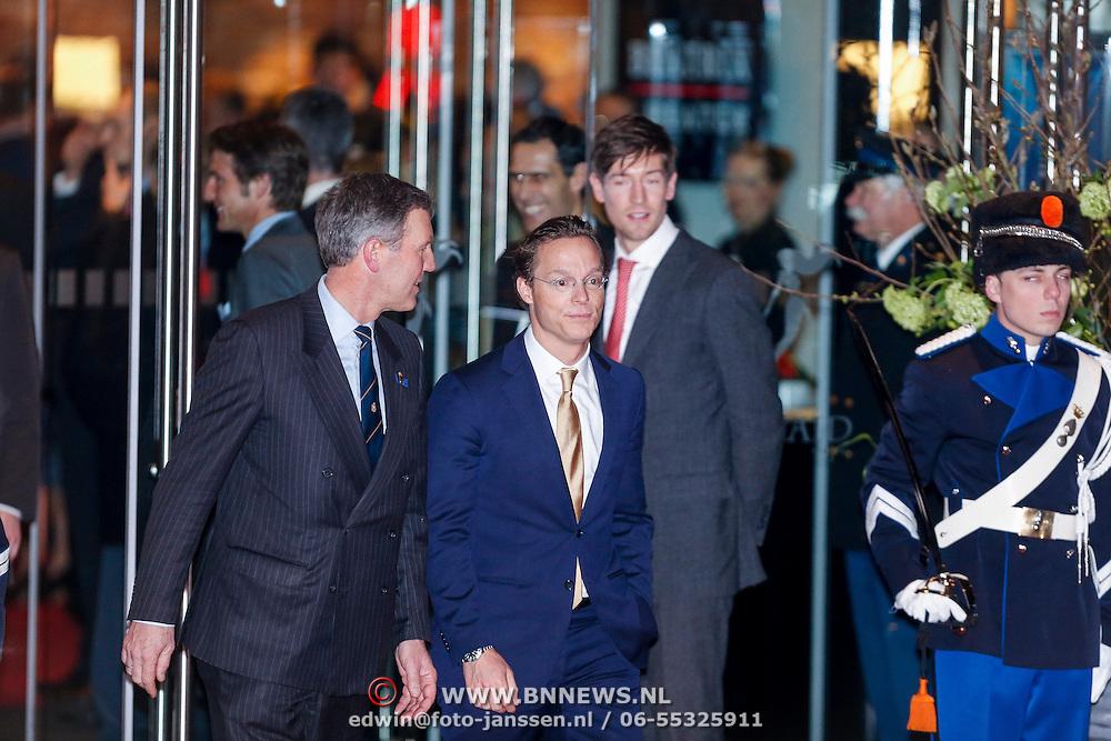 NLD/Utrecht/20130201 - Vertrek 75ste verjaardagfeest  Koninging Beatrix, Prins Jaime Bourbon de Parma