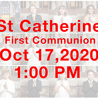 St Catherine 2020 1st Communion 1PM 10-17-20