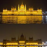 Earth Hour 2013 - Budapest