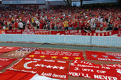 Athens, Greece - Wednesday, May 23, 2007: Liverpool's fans before the UEFA Champions League Final at the OACA Spyro Louis Olympic Stadium. (Pic by Jason Roberts/Propaganda)