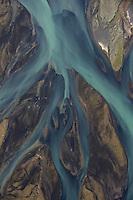 Skjalfandafljot river delta, northern Iceland - aerial