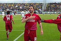 Livorno 17-4-05<br />Livorno Fiorentina Campionato serie A 2004-05<br />nella  foto Lucarelli festeggia dopo il suo gol <br />Foto Snapshot / Graffiti