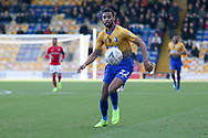 CJ Hamilton of Mansfield Town (22) during the The FA Cup match between Mansfield Town and Charlton Athletic at the One Call Stadium, Mansfield, England on 11 November 2018.
