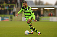 Forest Green Rovers midfielder Dan Wishart (17) on the attack during the Vanarama National League match between Forest Green Rovers and Dagenham and Redbridge at the New Lawn, Forest Green, United Kingdom on 29 October 2016. Photo by Alan Franklin.