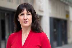 © Licensed to London News Pictures. 13/09/2020. London, UK. Shadow Chancellor of the Duchy of Lancaster Rachel Reeves speaks to the media outside the BBC after appearing on the Andrew Marr Show. Photo credit: George Cracknell Wright/LNP