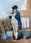 The Purser, 1799. Print by Thomas Rowlandson (1756-1827). Aquatint.