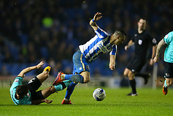 Beram Kayal of Brighton & Hove Albion is fouled by Craig Bryson of Derby County - Mandatory by-line: Jason Brown/JMP - 10/03/2017 - FOOTBALL - Amex Stadium - Brighton, England - Brighton and Hove Albion v Derby County - Sky Bet Championship