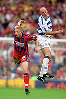 Mikael Forssell (Crystal Palace) Karl Ready (QPR) Crystal Palace v QPR, 20/08/2000. Credit: Colorsport / Matthew Impey