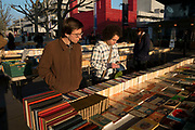 Second hand book stalls on the Southbank, London, United Kingdom. The South Bank is a significant arts and entertainment district, and home to an endless list of activities for Londoners, visitors and tourists alike. (photo by Mike Kemp/In Pictures via Getty Images)