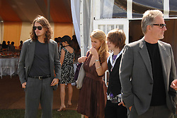 Left to right, JACK EVE, Actress ALICE EVE, her brother GEORGE EVE and their father TREVOR EVE at the final of the Veuve Clicquot Gold Cup 2007 at Cowdray Park, West Sussex on 22nd July 2007.<br /><br />NON EXCLUSIVE - WORLD RIGHTS