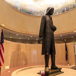 The large William Penn Statue inside the state museum in Harrisburg, PA.