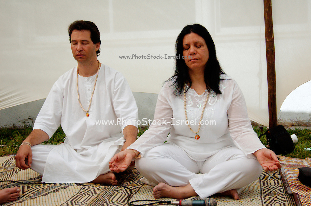 A meditating couple