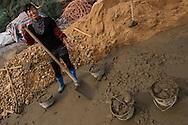 People building their new house, Changshan Island, Poyang Ho Lake, Jiangxi province, China
