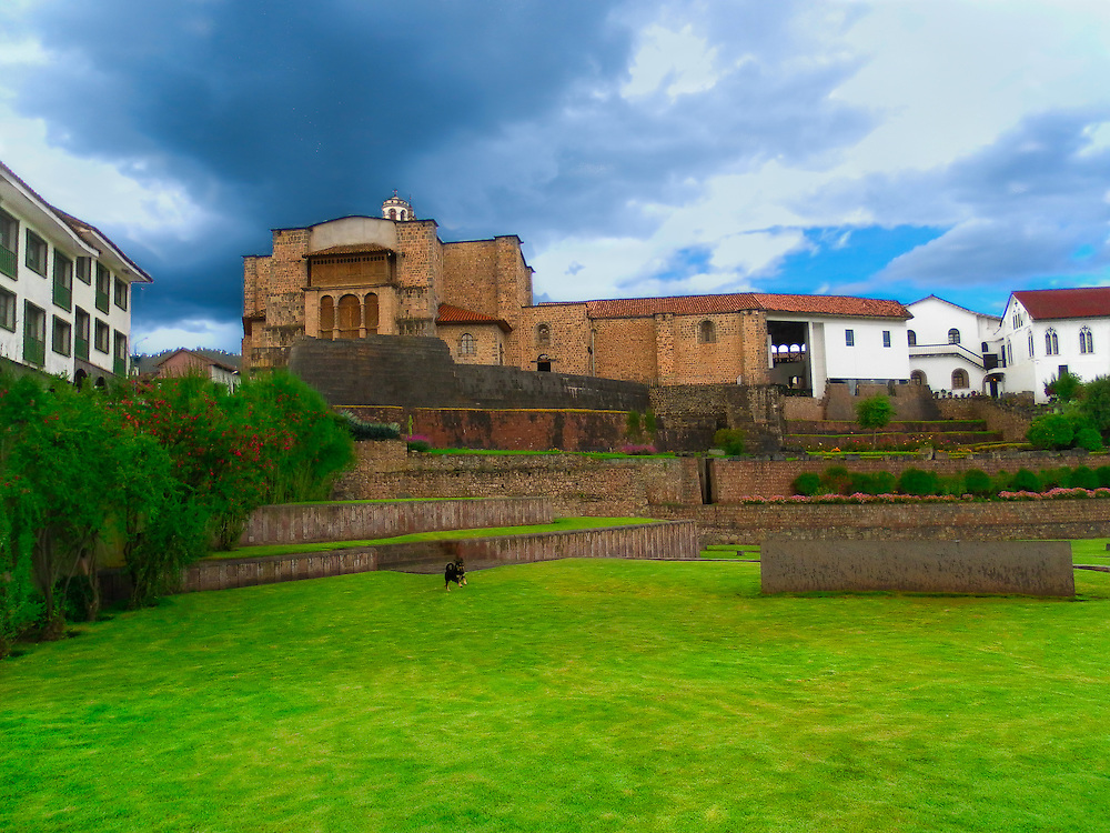 Coricancha, Qurikancha or Quri Kancha, originally named Inti Kancha or Inti Wasi, was the most important temple in the Inca Empire, dedicated primarily to Inti, the Sun God. It was one of the most revered temples of the capital city of Cusco.