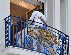 Nick Jonas & Priyanka Chopra are seen at the Martinez hotel in their suite feeding Pizza to each other straight after walking the red carpet in Cannes. 18 May 2019 Pictured: Nick Jonas,& Priyanka Chopra. Photo credit: Neil Warner/MEGA TheMegaAgency.com +1 888 505 6342