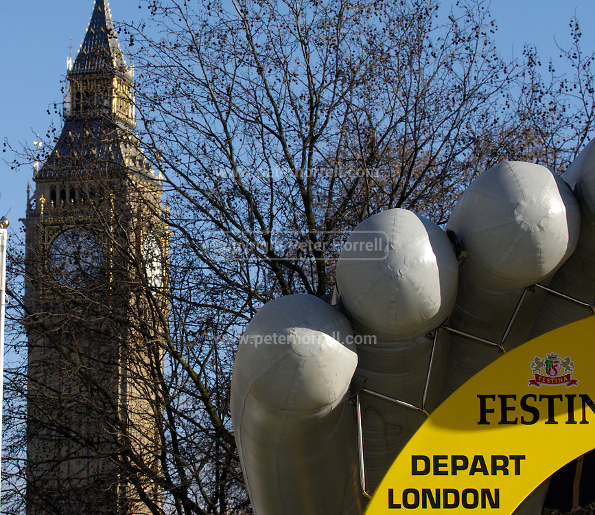 Le Tour is coming to London in 2007. Big Ben is in the background.