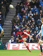 28.02.2015.  Edinburgh, Scotland. 6 Nations Championship. Scotland versus Italy. Scotland's Peter Horne kicks.